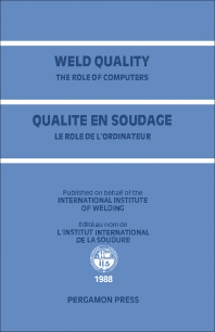 Weld Quality: The Role of Computers - 1st Edition - ISBN: 9780080366142, 9781483146843