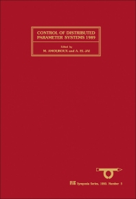 Control of Distributed Parameter Systems 1989 - 1st Edition - ISBN: 9780080370361, 9781483298818