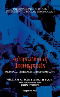 Adaptation of Immigrants - 1st Edition - ISBN: 9780080372655, 9781483287119