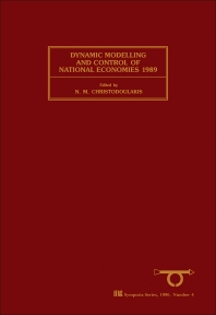 Dynamic Modelling and Control of National Economies 1989 - 1st Edition - ISBN: 9780080375380, 9781483298825