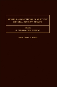 Cover image for Models and Methods in Multiple Criteria Decision Making