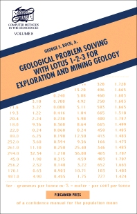 Cover image for Geological Problem Solving with Lotus 1-2-3 for Exploration and Mining Geology