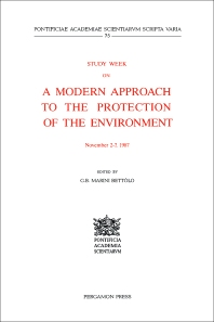 Study Week on a Modern Approach to the Protection of the Environment - 1st Edition - ISBN: 9780080408163, 9781483287553