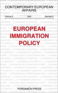 European Immigration Policy - 1st Edition - ISBN: 9780080413884, 9781483292854