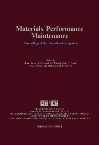 Materials Performance Maintenance - 1st Edition - ISBN: 9780080414416, 9781483287645