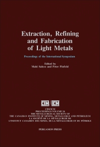Cover image for Extraction, Refining, and Fabrication of Light Metals