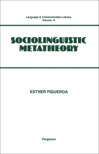 Cover image for Sociolinguistic Metatheory