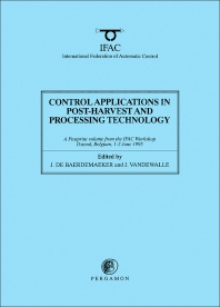 Cover image for Control Applications in Post-Harvest and Processing Technology 1995