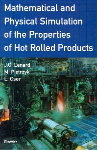 Mathematical and Physical Simulation of the Properties of Hot Rolled Products - 1st Edition - ISBN: 9780080427010, 9780080525686