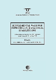 Supplemental Ways for Improving International Stability 1998, 1st Edition,I. Dumitrache,F. Kile,Peter Kopacek,ISBN9780080432311