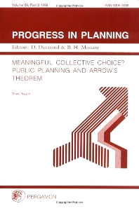 Cover image for Progress in Planning, Volume 50, Part 2
