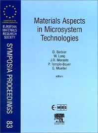Materials Aspects in Microsystem Technologies, 1st Edition,D. Barbier,J.R. Morante,P. Temple-Boyer,G. Mueller,W. Lang,ISBN9780080436111