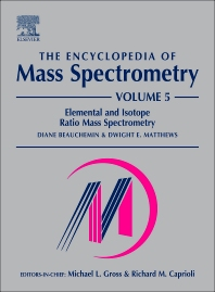 Cover image for The Encyclopedia of Mass Spectrometry, Volume 5