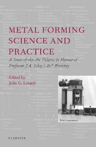Cover image for Metal Forming Science and Practice