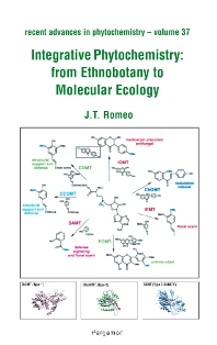 Cover image for Integrative Phytochemistry: from Ethnobotany to Molecular Ecology