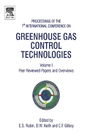 Greenhouse Gas Control Technologies - 1st Edition - ISBN: 9780080447049, 9780080539737