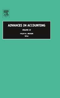 9780080463216 - Advances in Accounting - Livre