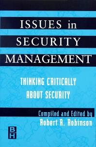 Cover image for Issues in Security Management