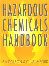 Hazardous Chemicals Handbook - 1st Edition - ISBN: 9780080523798