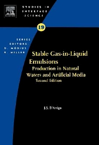 Stable Gas-in-Liquid Emulsions, 1st Edition,Joseph D'Arrigo,ISBN9780080541662