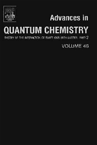 Advances in Quantum Chemistry, 1st Edition,Remigio Cabrera-Trujillo,John Sabin,ISBN9780080544083