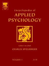 Encyclopedia of Applied Psychology - 1st Edition - ISBN: 9780126574104, 9780080547749
