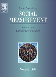 Encyclopedia of Social Measurement - 1st Edition - ISBN: 9780080547800