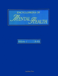 Encyclopedia of Mental Health, Three-Volume Set