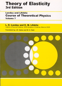 Cover image for Theory of Elasticity