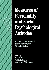 Measures of Personality and Social Psychological Attitudes - 1st Edition - ISBN: 9780125902441, 9780080571102