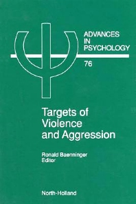 Targets of Violence and Aggression, 1st Edition,ISBN9780080867304