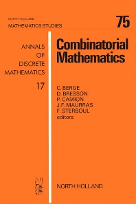 Combinatorial Mathematics, 1st Edition,D. Bresson,P. Camion,J.F. Maurras,F. Sterboul,C. Berge,ISBN9780080871868