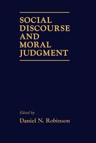 Cover image for Social Discourse and Moral Judgement