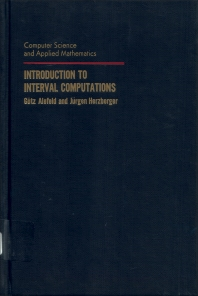 Cover image for Introduction to Interval Computation