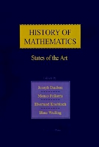 History of Mathematics - 1st Edition - ISBN: 9780122040559, 9780080917573