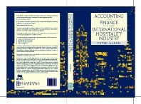 Accounting and Finance for the International Hospitality Industry - 1st Edition - ISBN: 9780750635868