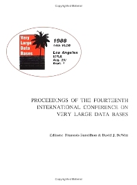 Proceedings 1988 VLDB Conference - 1st Edition - ISBN: 9780934613750, 9780080948133