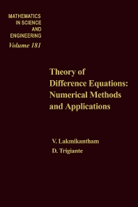 Cover image for Theory of Difference Equations Numerical Methods and Applications by V Lakshmikantham and D Trigiante
