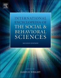 cover of International Encyclopedia of the Social & Behavioral Sciences - 2nd Edition