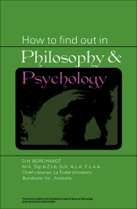 How to Find Out in Philosophy and Psychology - 1st Edition - ISBN: 9780082034643, 9781483191188