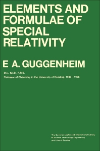 Elements and Formulae of Special Relativity - 1st Edition - ISBN: 9780082035053, 9781483160016