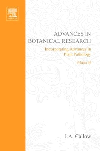 Advances in Botanical Research, 1st Edition,J. A. Callow,ISBN9780120059409