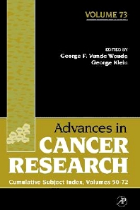 Cumulative Subject Index, 1st Edition,George Vande Woude,George Klein,ISBN9780120066735
