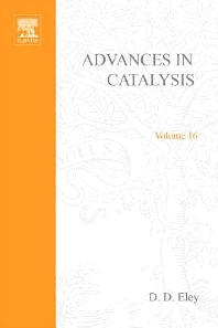 Advances in Catalysis - 1st Edition - ISBN: 9780120078165, 9780080565200
