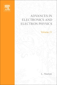 Advances in Electronics and Electron Physics - 1st Edition - ISBN: 9780120145218, 9780080576824