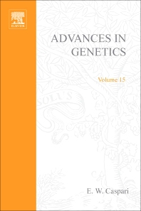 Advances in Genetics - 1st Edition - ISBN: 9780120176151, 9780080568027