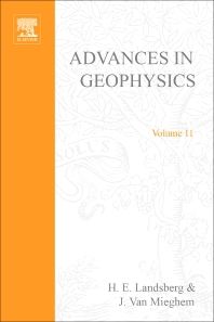 Advances in Geophysics - 1st Edition - ISBN: 9780120188116, 9780080568393