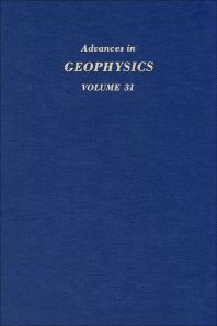 Cover image for Advances in Geophysics