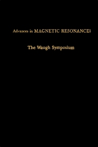 Advances in Magnetic Resonance - 1st Edition - ISBN: 9780120255146, 9780323156639
