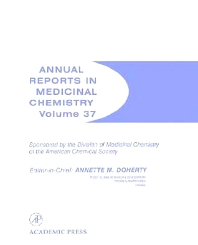 Annual Reports in Medicinal Chemistry, 1st Edition,Annette Doherty,ISBN9780120405374